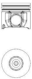 8711350710 Поршень FORD TRANSIT 2,4TDCI -06 0,5mm(комплект)