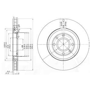 BG3529 Тормозной диск 2шт в упаковке