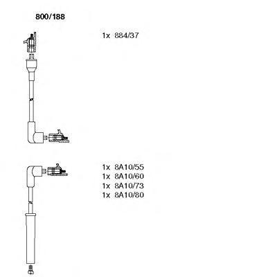 800188 Комплект проводов зажигания