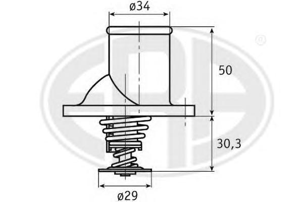 350208 Термостат OPEL OMEGA 1.8-2.0 86-94 / VECTRA B 1.6-2.0 -02