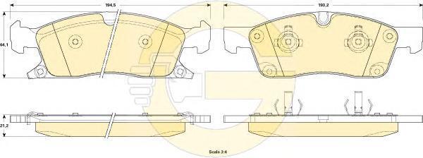 6146042 Колодки тормозные JEEP GRAND CHEROKEE IV 10- передние