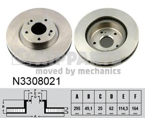 N3308021 Диск тормозной SUZUKI GRAND VITARA 05- передний вент.