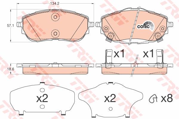 GDB3598 Колодки тормозные TOYOTA AURIS 12-/COROLLA 13- передние