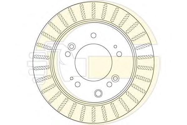 6061915 Диск тормозной KIA SORENTO 02- задний вент. D=315мм