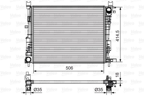 735634 Радиатор RENAULT LOGAN/SANDERO/CLIO 1.2-1.6 10-
