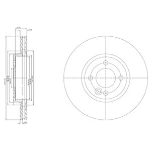 BG3661 Диск тормозной Fr MINI
