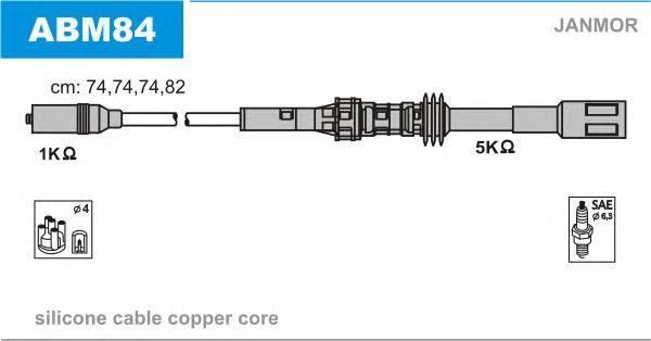 ABM84 Комплект проводов зажигания AUDI: A3 96-03, SEAT: TOLEDO II 99-06, VW: GOLF IV 97-05