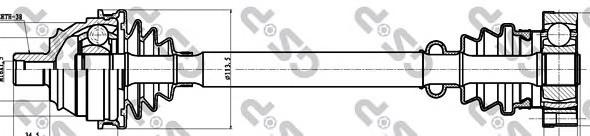 261003 Привод в сборе VW TRANSPORTER IV 1.9D-2.8 90-03 пер. лев./прав.