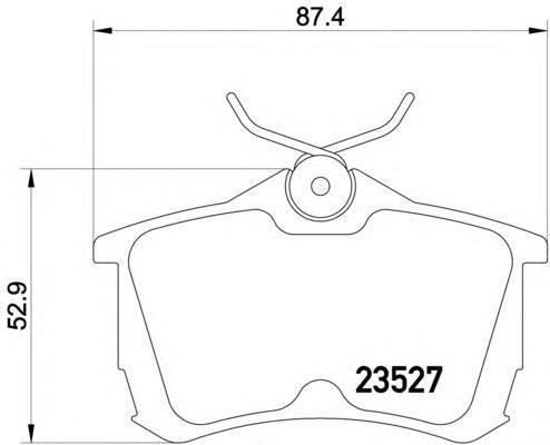 8DB355009511 Колодки тормозные HONDA ACCORD 2.0/2.2/2.4 98 задние