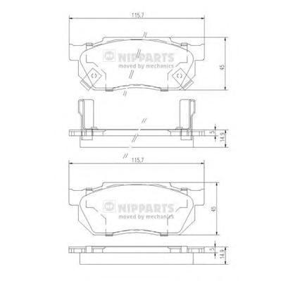 J3604019 Колодки тормозные HONDA CIVIC/CRX/PRELUDE 83-95 передние