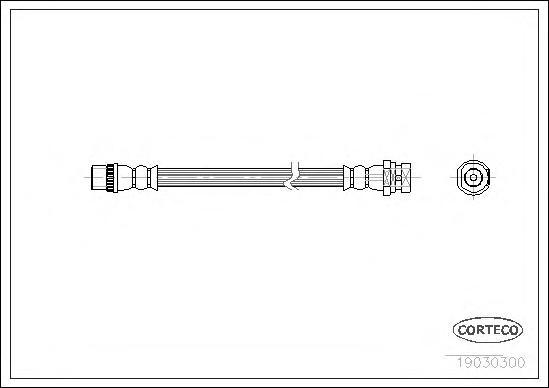 19030300 Шланг тормозной RENAULT: ESPACE IV 1.9 dCi/1.9 dCi/2.0/2.0/2.0 Turbo/2.0 dCi/2.0 dCi/2.0 dCi/2.2 dCi/2.2 dCi/3.0 dCi/3.