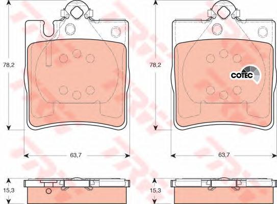 GDB1421 Колодки тормозные MERCEDES W203 00/A208/A209 CLK задние