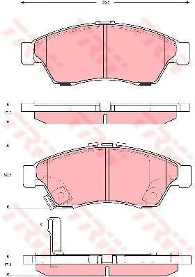 GDB3290 Колодки тормозные SUZUKI LIANA 02 передние