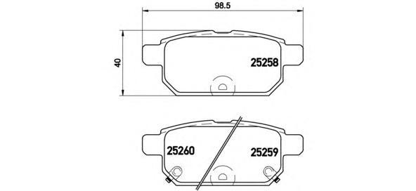 P79029 К-т торм. колодок Re SUZ Swift 10-, SX-4 S-Cr 14-