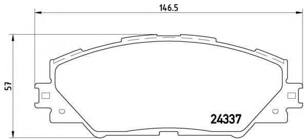 P83071 Колодки тормозные TOYOTA RAV 4 05 передние