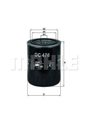 OC476 Фильтр масляный HYUNDAI ACCENT 1.3/1.5/TUCSON/SANTA FE 2.0 CRDI