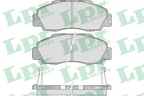 05P472 Колодки тормозные HONDA ACCORD 91-98/CR-V 95-02 передние