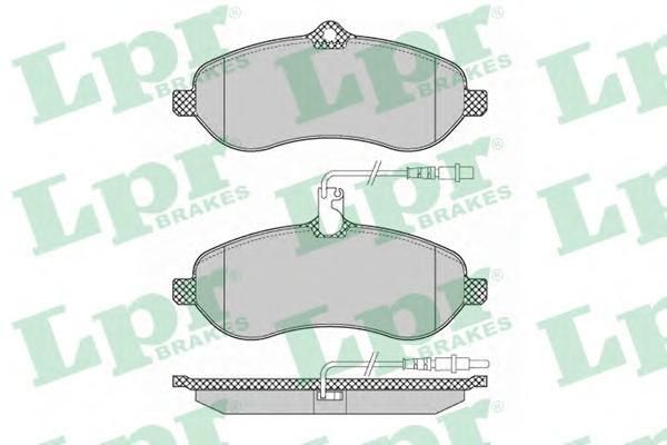 05P1348 Колодки тормозные CITROEN JUMPY/FIAT SCUDO/PEUGEOT EXPERT 07- передние