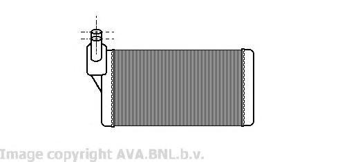 VW6097 Радиатор отопителя VW T4 1.8-2.8 / 1.9-2.5TD 91-03
