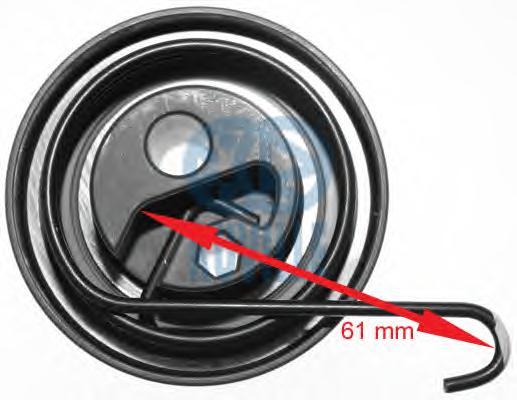 55344 Ролик натяжной ремня ГРМ HONDA: CIVIC VI Hatchback 1.7 CTDi 00-05  OPEL: ASTRA G Наклонная задняя часть 1.7 CDTI/1.7 DTI 1