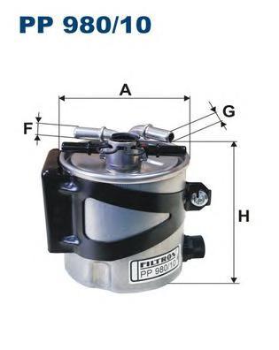 PP98010 Фильтр топливный RENAULT MEGANE II 2.0 DCI 05-