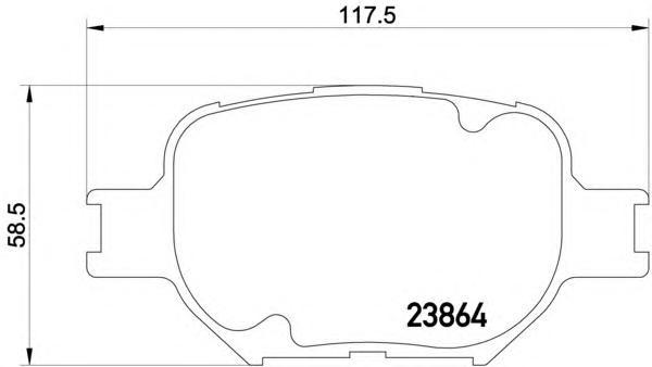 8db355010201 Колодки тормозные дисковые