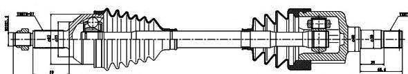 218016 Привод в сборе FORD MONDEO I-II 1.6-2.0 93-00 лев. -ABS