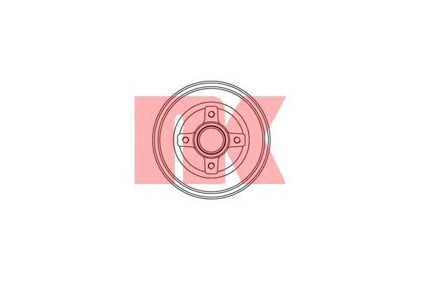 253616 Барабан тормозной со ступицей / OPEL Corsa-C (без ABS)