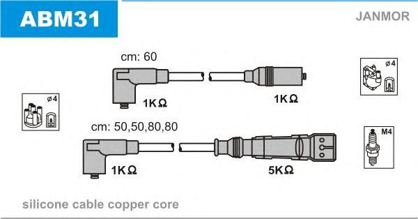 ABM31 Комплект проводов зажигания VW: GOLF III 91-97, GOLF III Variant 93-99