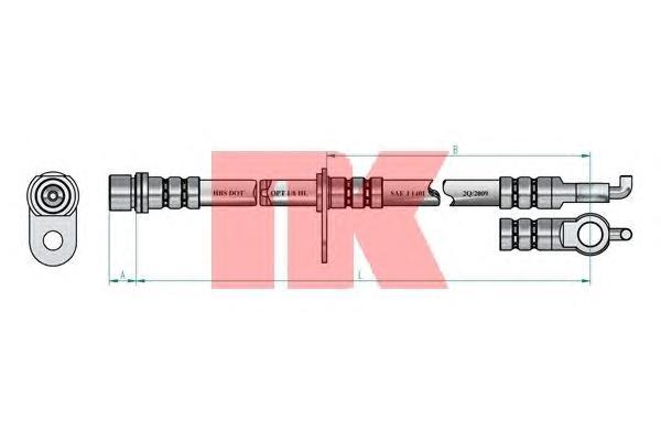 8545152 Шланг тормозной 590 mm
