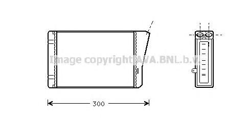 OL6196 Радиатор отопителя OPEL OMEGA B 2.0-3.2/2.0D-2.5D 94-03