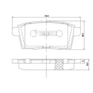 N3613024 Колодки тормозные MAZDA CX7/CX9 07- задние