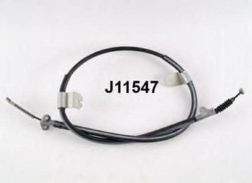 J11547 Трос ручного тормоза (бараб.) NISSAN SUNNY III 90-95 лев.