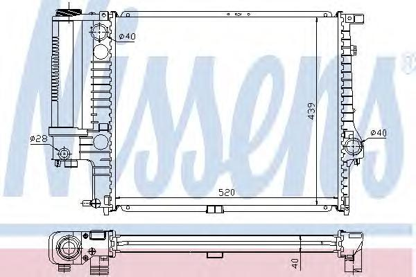 60615A Радиатор BMW E34 2.0/2.5 89-96