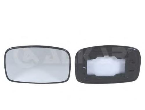6401386 Стекло зеркала левое, сферическое / FORD Fiesta-III/IV,Escort-VII,Puma