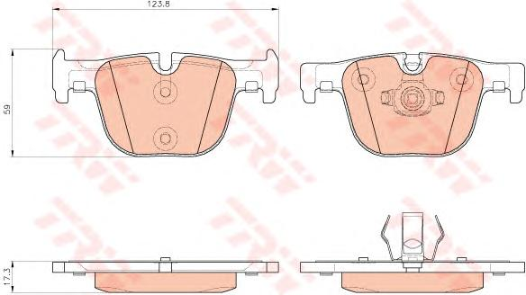 GDB1937 Колодки тормозные BMW 3 F30/31/34/35/80 11-/4 F32/33/36/82/83 12- задние