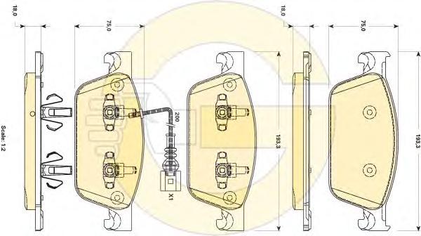 6118872 Колодки тормозные VW MULTIVAN V/TRANSPORTER V (2E4) 09- передние с датч.