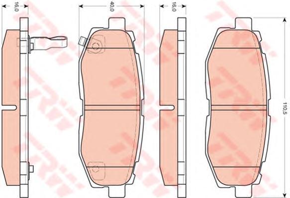 GDB3442 Колодки тормозные SUBARU TRIBECA 3.0/3.6 05- задние