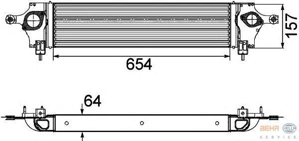8ML376746611 Интеркулер NISSAN: X-TRAIL (T31) 2.0 dCi 07 -  RENAULT: KOLEOS (VY) 2.0 dCi 4x4 08 -