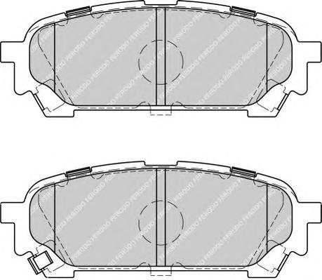FDB1861 Колодки тормозные SUBARU IMPREZA 2.0 11.02- задние
