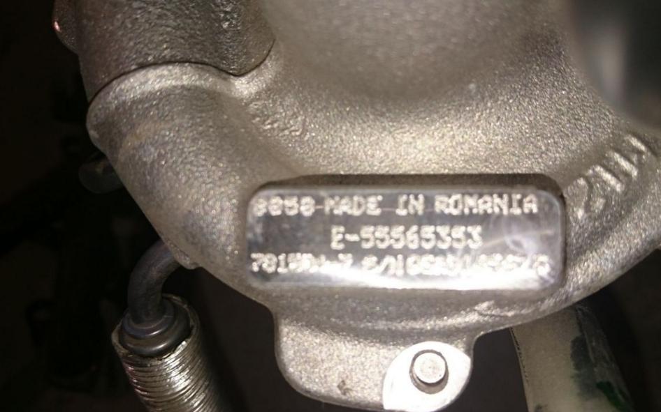 55565353 Выпускной коллектор с турбонагнетателем / OPEL 1,4 NET,NEL