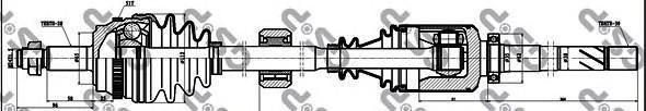 250060 Привод в сборе OPEL MOVANO/RENAULT MASTER 1.9DTI 00- прав. +ABS