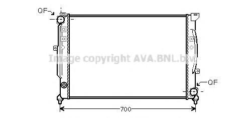 AIA2124 Радиатор AUDI A4 2.4-2.8/2.5TD 97-04
