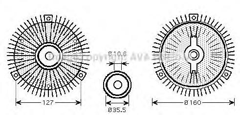MSC412 Вискомуфта вентилятора радиатора MERCEDES SPRINTER 95-06