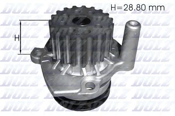 A222 Насос водяной Audi. Skoda. VW 1.6TDi-2.0TDi 09