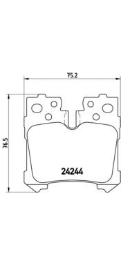 P83076 Колодки тормозные LEXUS LS 4.6-5.0 06- задние
