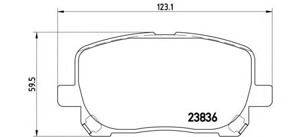 P83061 Колодки тормозные TOYOTA AVENSIS VERSO 2.0/2.0D 01- передние