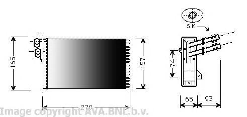 VW6173 Радиатор отопителя AUDI A3 1.6-1.8/1.9TD 97-