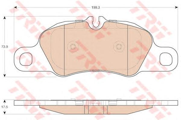 GDB1990 Колодки тормозные PORSHE 911 08-/BOXTER 12-/CAYMAN 13- передние