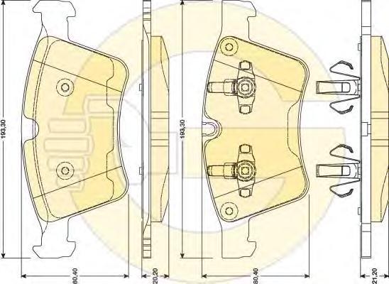 6117972 Колодки тормозные MERCEDES GL X164 4.2-5.0/ML W164 5.0/R W241 5.0 передние